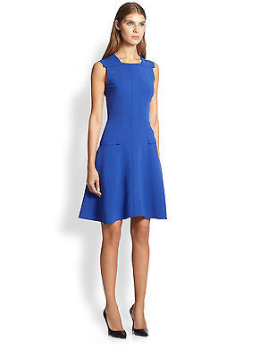 ~NWT PRABAL GURUNG BLUE SLEEVELESS FIT & FLARE DRESS (WILDY FLATTERING!) 2