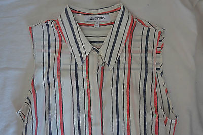 ~ ELIZABETH AND JAMES STRIPED SILK ROLLINS TUNIC DRESS (EVERYDAY CHIC) ~ S
