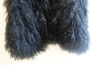 ~$2K YVES SALOMAN PARIS BLACK LAMBS FUR VEST (ROCKSTAR GLAM!) ~ 38