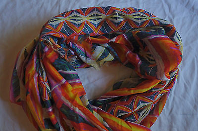 ~NWT $513 PETER PILOTTO CASHMERE MODAL DIGITAL PRINT SCARF / WRAP  (ON FIRE!) ~
