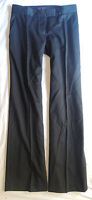 ~ STELLA MCCARTNEY BLACK FLAT FRONT TROUSER PANTS (FLAWLESS FIT!) ~ 38