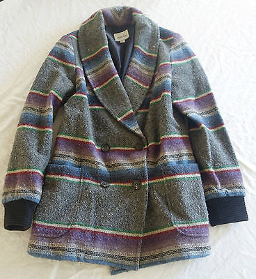 STEVEN ALAN NAVAJO STRIPE PRINT WOOL COAT / JACKET (COLD-WEATHER CHIC!) ~ 6