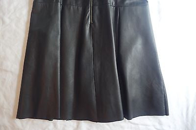 ~$995 A.L.C. BLACK LEATHER FIT & FLARE SLEEVELESS DRESS (SOOO HOT!) ~ 4