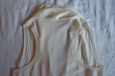 ALEXANDER MCQUEEN IVORY KNIT DRAPED NECKLINE PEPLUM BLOUSE TOP (EXQUISITE!)  M