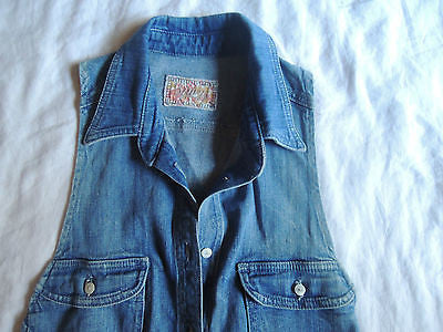 ~ SIWY DENIM NATALIE BUTTON DOWN SLEEVELESS TOP / VEST  ~ L