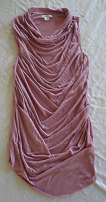 ~ HELMUT LANG LILAC DRAPED JERSEY SLEEVELESS BLOUSE TOP (MODERN CHIC) P / XS