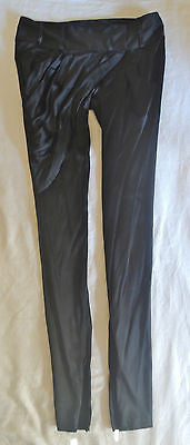 ~ THOMAS WYLDE BLACK DRAPED SILK TAPERED PANTS (ROCKSTAR GLAM!) S