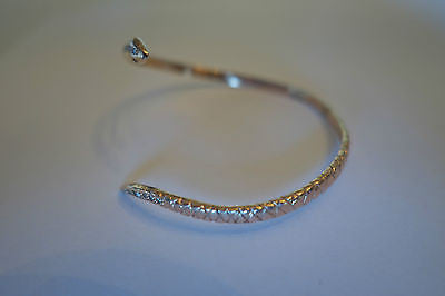 ~ KATHY ROSE FOR ROSEARK ROSE GOLD & PAVE DIAMOND SNAKE CUFF BRACELET  ~