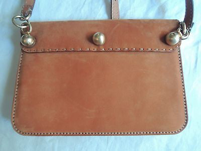 ~NEW FENDI BROWN SUEDE CROSS BODY STONE DETAIL FLAP BAG  (DIE FOR THIS ONE!) ~