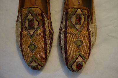 ~ SURFACE TO AIR EMBROIDERED AZTEC PRINT LOAFERS SHOES (HIPSTER LUXE!) ~ 35