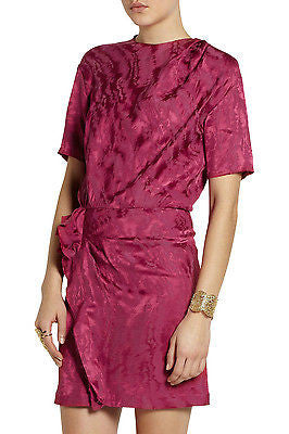 ~ ISABEL MARANT YANN JACQUARD MINI DRESS IN RASPBERRY (FROM SPRING 2014) ~ 38