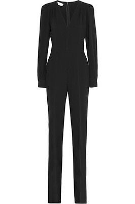 ~ STELLA MCCARTNEY BLACK PLUNGING NECKLINE  JUMPSUIT (FASHION-GIRL FAVE!) ~ 36