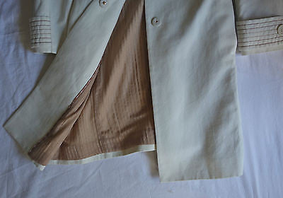 ~ MISSONI IVORY CANVAS TRENCH COAT / JACKET (OH SO CHIC!) ~ 38/ US 6