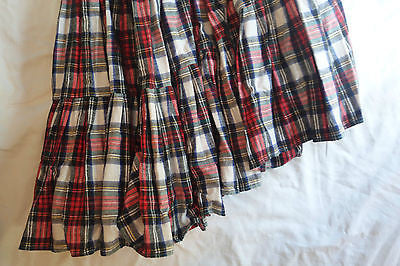 ~ NORMA KAMALI RED PLAID ASYMMETRICAL SKIRT (INSANELY SPECIAL) P / XS