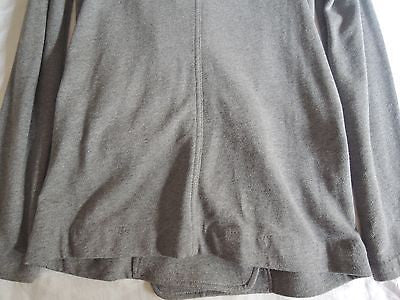 ~ ALEXANDER WANG GRAY RELAXED FIT LEATHER TRIM BLAZER / JACKET (COMFY CHIC!) ~ M