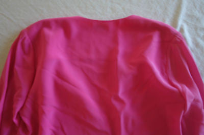 ~ SAINT LAURENT HOT PINK SILK BLOUSE TOP (TO DIE FOR!) ~ F 38