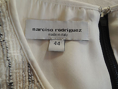 NARCISO RODRIGUEZ WHITE & BLACK SLEEVELESS SHIFT DRESS