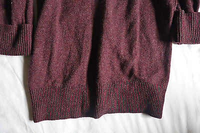 ~ CHLOE PURE CASHMERE MAROON BOYFRIEND SWEATER / CARDIGAN (EVERYDAY LUXE!) ~ S