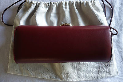 ~ NEW HERMES ROUGE H RED LEATHER EGEE CLUTCH / EVENING BAG (CURRENT!) ~