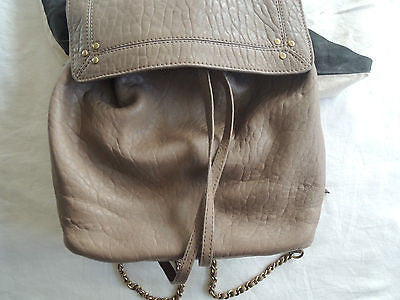 ~NEW JEROME DREYFUSS TAUPE LEATHER FLORENT BACKPACK / BAG (CURRENT!)~