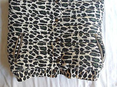 ~ SEA NYC SILK LEOPARD PRINT PUFFER VEST (COLD-WEATHER COOL!) ~ 6
