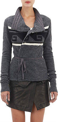 ISABEL MARANT GRAY SHANLEY WAVE WRAP CARDIGAN SWEATER (STREET-STYLE CHIC!) ~ 42