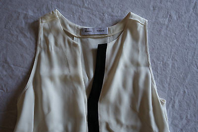 ~ PROENZA SCHOULER IVORY & BLACK STRIPE SLEEVELESS TOP (PURE SOPHISTICATION!)  2