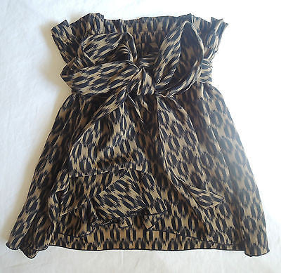 ~ ISABEL MARANT BLACK & BROWN PAPER BAG  WAIST SILK SKIRT (LOVE THIS!)  1 / S