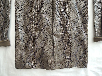 ~ THOMAS WYLDE PYTHON PRINT & GOLD CHAIN LONG SLEEVE DRESS (SO ROCKER-CHIC!) XS