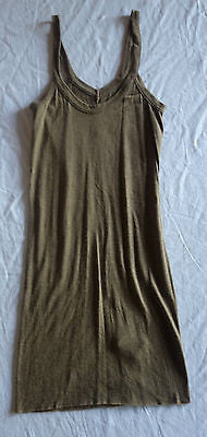 ~NWT RICK OWENS LIGHT CARAMEL SLEEVELESS CAMISOLE DRESS (COOL MEETS LUXE!) ~ 38
