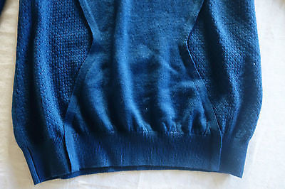 ~ CEDRIC CHARLIER BLUE THIN WOOL PULLOVER SWEATER (OH SO LUXE!)~ 40