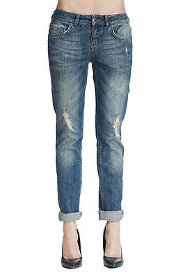 ~ ANINE BING MEDIUM WASH BOYFRIEND JEANS (COOL-GIRL APPEAL!) ~ 26