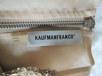 ~ KAUFMAN FRANCO BLUSH GOLD SEQUIN SILK BLOUSE TOP (GLAM GIRL!) ~ 2 / 38