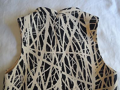 ~ PROENZA SCHOULER IVORY & BLACK ABSTRACT PRINT SLEEVELESS CROPPED TOP (LOVE)  6
