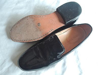 ~ DIEPPA RESTREPO BLACK PATENT LEATHER LEON LOAFERS SHOES (HIPSTER COOL!) ~ 7