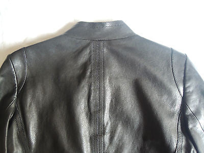 ~$2K RENE LEZARD BLACK LAMBSKIN LEATHER  JACKET (SOOOO BUTTERY SOFT!) 34