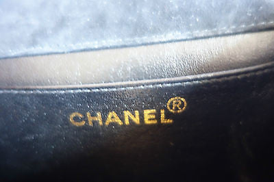 ~ AUTHENTIC CHANEL BLACK SUEDE & GOLD CHAIN STRAP BAG ~ (TRES RARE!!!)