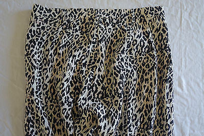 ~ TUCKER LEOPARD PRINT SILK TAPERED PANTS (FASHION BLOGGER FAVE) S