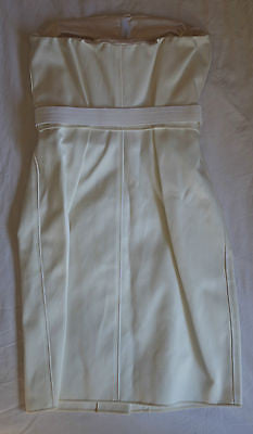 ~RARE MARC JACOBS WHITE SATIN BELTED STRAPLESS DRESS  (PARTY PERFECTION!)~ US 2