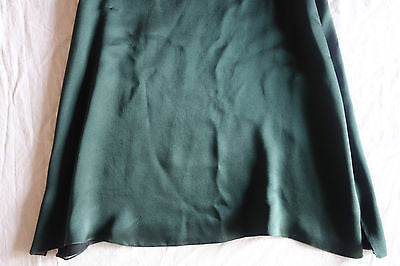 ~ CHLOE DARK GREEN SILK SLEEVELESS A-LINE BLOUSE TOP (IT'S LOVE!) ~ 40