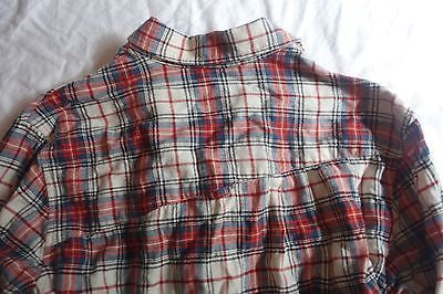 ~ BAND OF OUTSIDERS RED & WHITE PLAID BUTTON DOWN BOYFRIEND SHIRT ~ 1 /  S