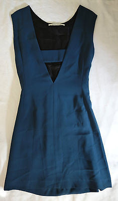 ~ SKAIST TAYLOR TEAL SLEEVELESS CUT OUT NECKLINE MINI DRESS (SUPER CHIC)  2