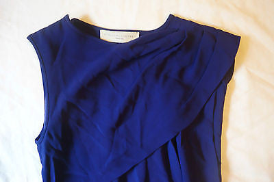 ~$2K STELLA MCCARTNEY BLUE DRAPED ASYMMETRICAL CAPE DRESS (ADORE!) 40