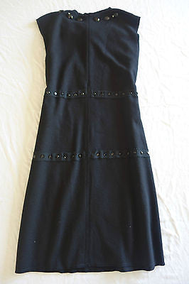 ~ LANVIN BLACK SLEEVELESS JEWELED BOW FRONT SLEEVELESS DRESS (EXQUISITE!) 42