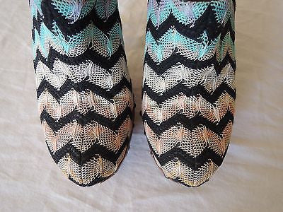 ~ MISSONI CHEVRON KNIT PLATFORM MULES / CLOGS (THESE ARE EVERYTHING!) 37