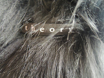 ~AUTHENTIC THEORY BLACK FOX FUR SCARF / WRAP (OH SO LUXE!) ~ o/s