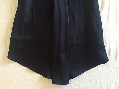 ~ THE ROW NAVY BLUE SILK CAP SLEEVE A-LINE BLOUSE / TOP  (SO CHIC!) ~ S