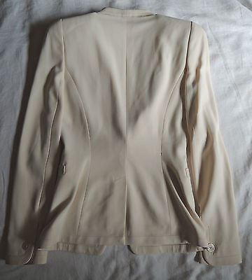 ~ ALEXANDER MCQUEEN IVORY NUDE STRUCTURED BLAZER / JACKET (SO MUST-HAVE!)  38