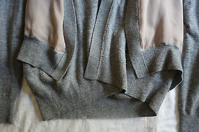 ~ LANVIN GRAY LAYERED VEST CARDIGAN SWEATER (OH SO LUXE!) M