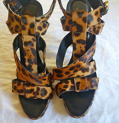 ~ ROGER VIVIER LEOPARD PONY PLATFORMS HEELS / SANDALS (YES PLEASE!) ~ 41